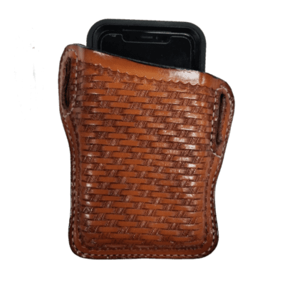 Basket Stamped Cell Phone Holster